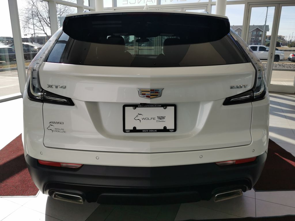 White[Crystal White Tricoat] 2019 Cadillac XT4 Rear of Vehicle Photo in Edmonton AB
