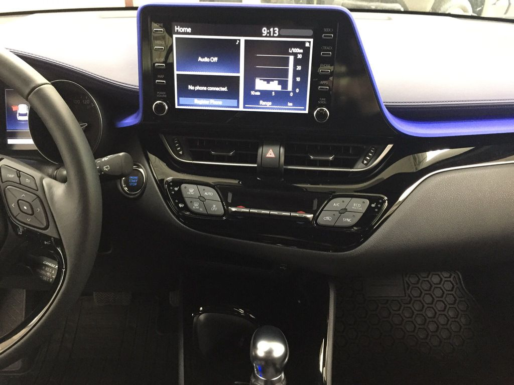 White[Blizzard Pearl] 2021 Toyota C-HR XLE Premium Central Dash Options Photo in Sherwood Park AB
