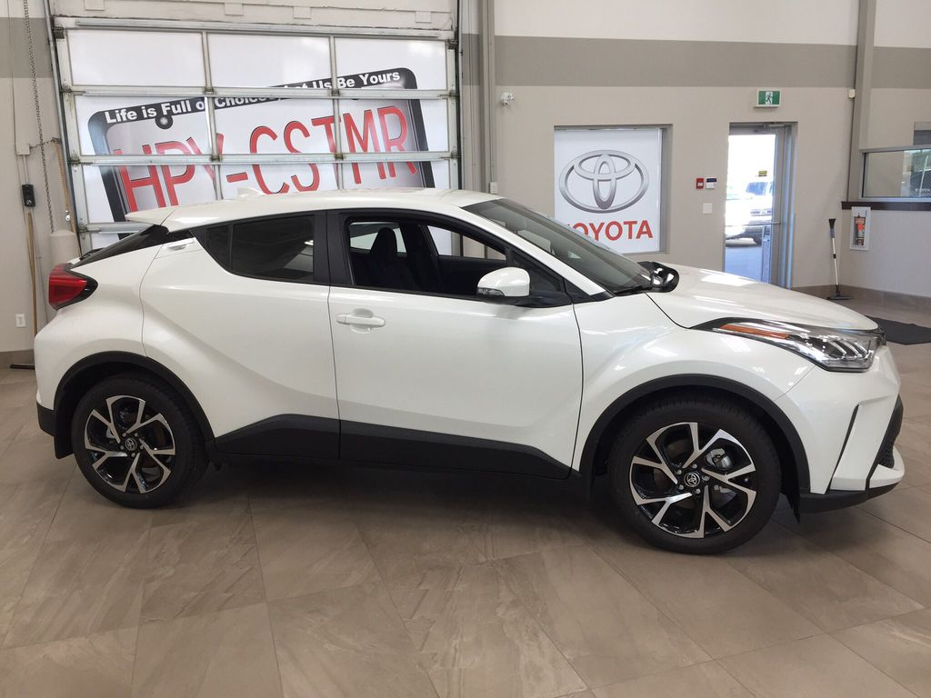 White[Blizzard Pearl] 2021 Toyota C-HR XLE Premium Right Side Photo in Sherwood Park AB