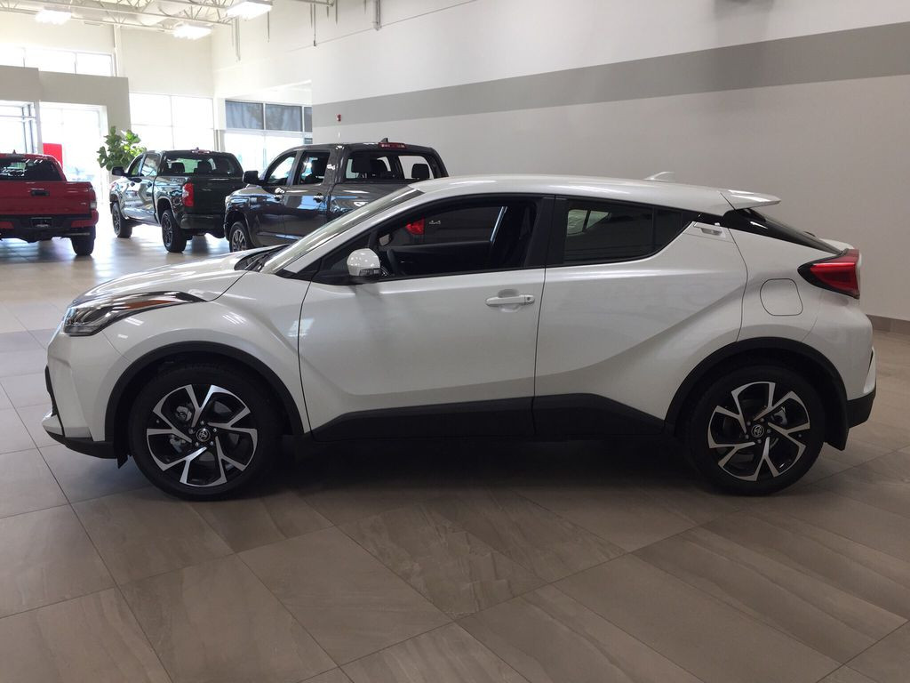 White[Blizzard Pearl] 2021 Toyota C-HR XLE Premium Left Side Photo in Sherwood Park AB