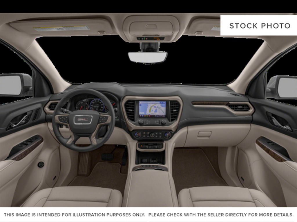 White[White Frost Tricoat] 2021 GMC Acadia Denali Central Dash Options Photo in Canmore AB