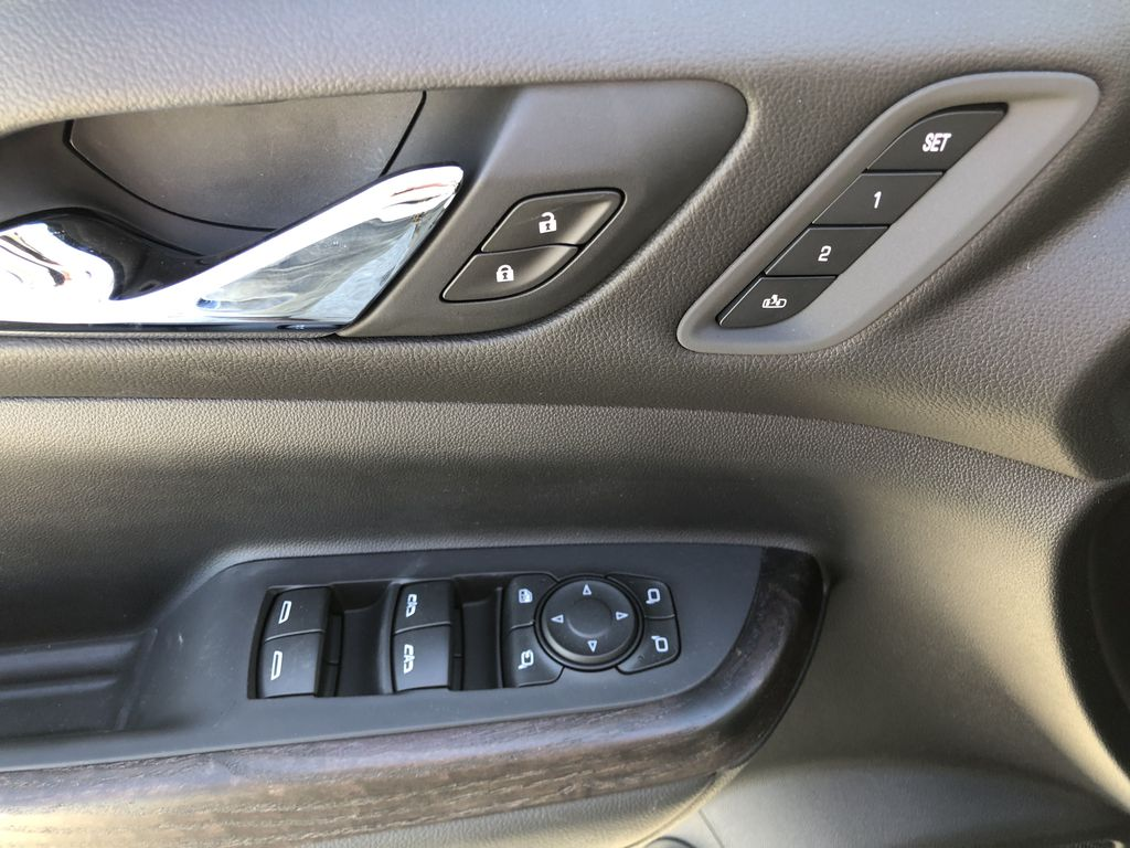White[White Frost Tricoat] 2021 GMC Acadia Denali  Driver's Side Door Controls Photo in Canmore AB