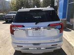 White[White Frost Tricoat] 2021 GMC Acadia Denali Rear of Vehicle Photo in Canmore AB