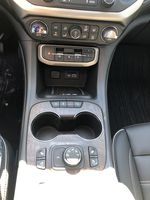 White[White Frost Tricoat] 2021 GMC Acadia Denali Center Console Photo in Canmore AB