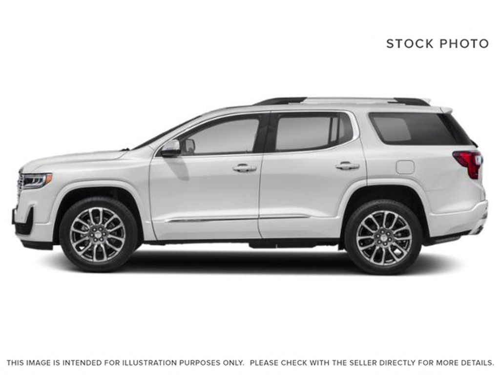 White Frost Tricoat 2021 GMC Acadia Left Side Photo in Oshawa ON