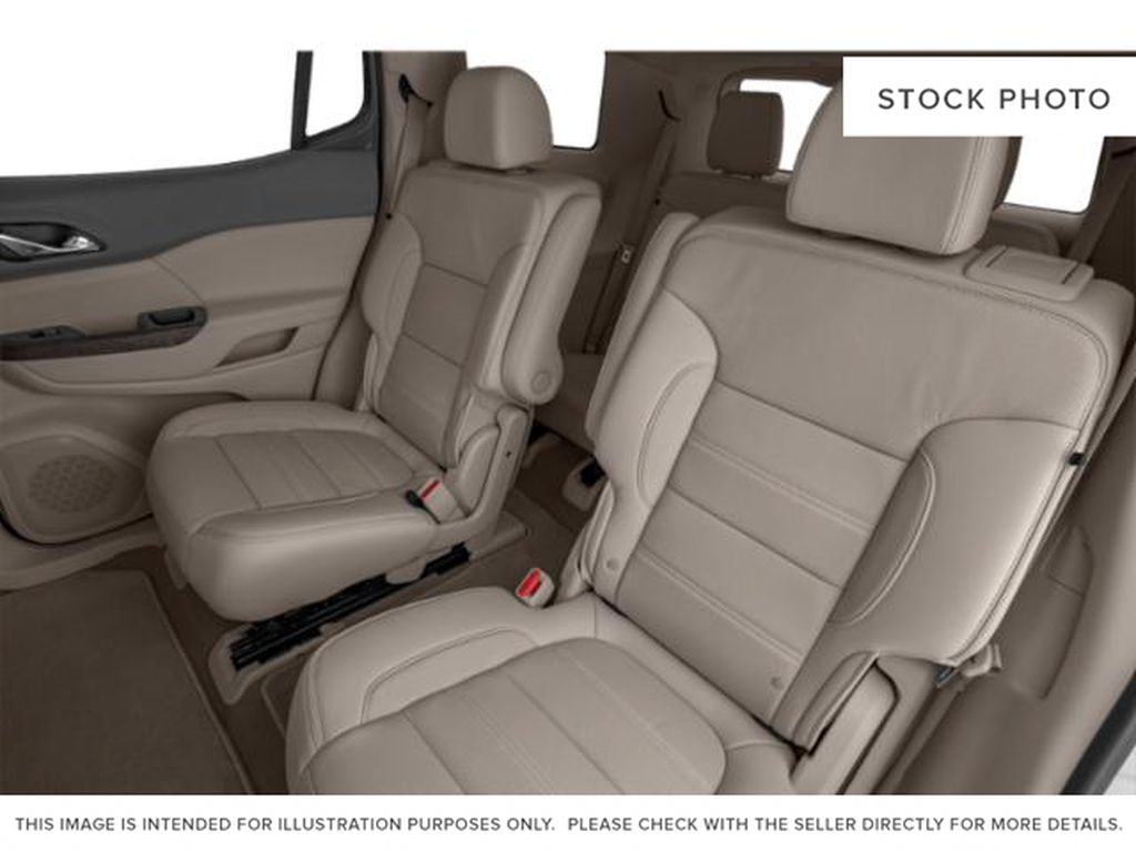 White Frost Tricoat 2021 GMC Acadia Left Side Rear Seat  Photo in Oshawa ON
