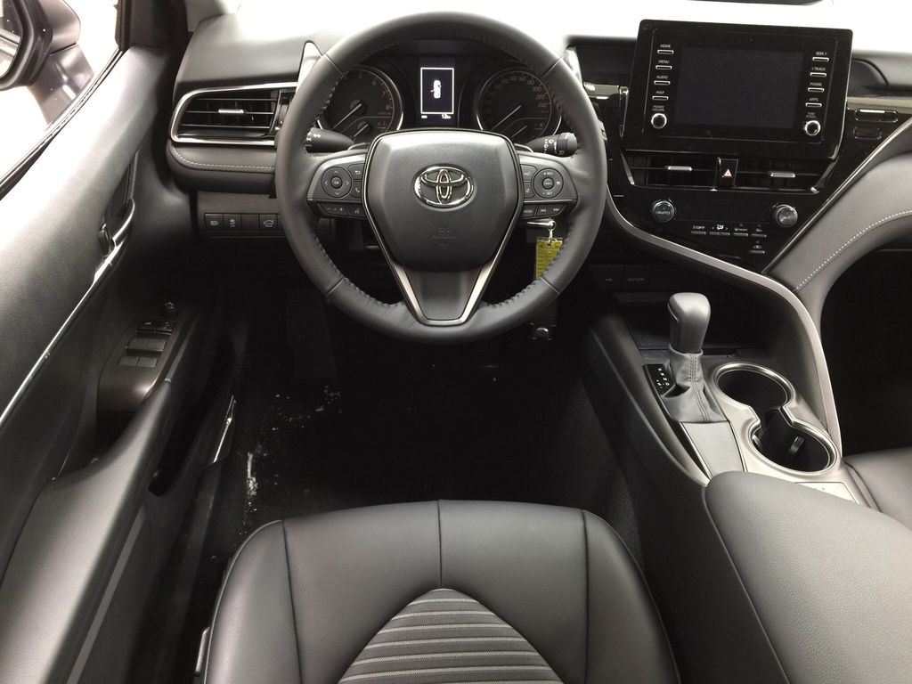 Gray[Pre-Dawn Grey Mica] 2021 Toyota Camry SE FWD Left Front Seat Photo in Sherwood Park AB