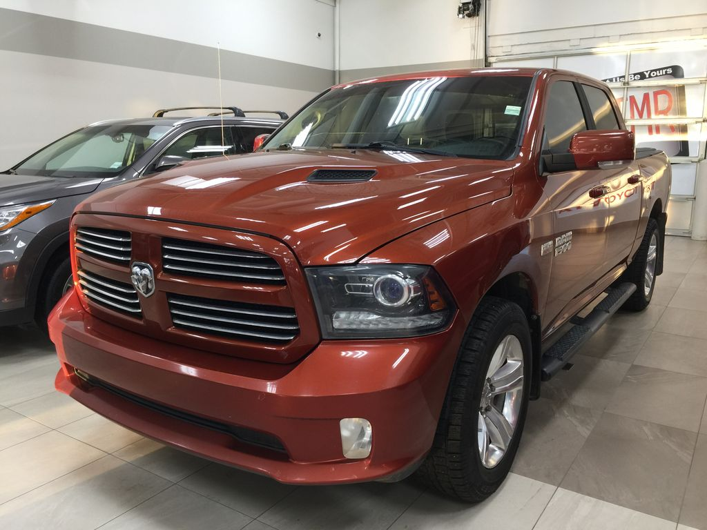 Copper[Copperhead Pearl] 2013 Ram 1500 Sport Crew Cab 4x4 Left Side Photo in Sherwood Park AB
