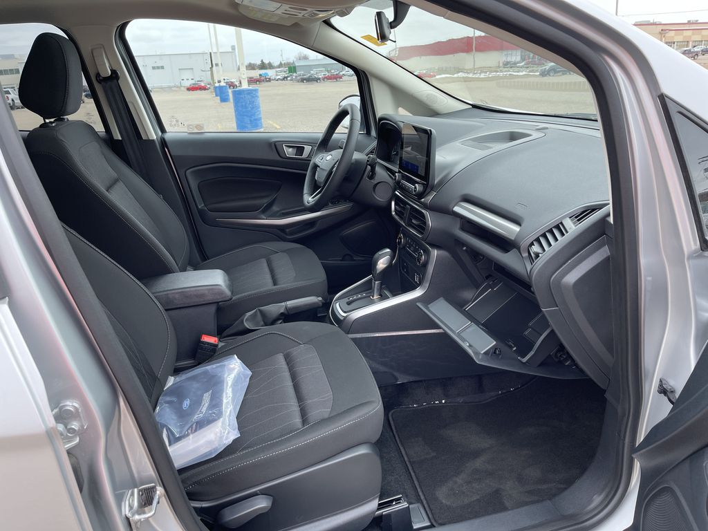 Silver[Moondust Silver Metallic] 2020 Ford EcoSport SE 4WD *Heated Cloth Seats* Backup Cam* Heated Mirrors* Right Side Front Seat  Photo in Brandon MB