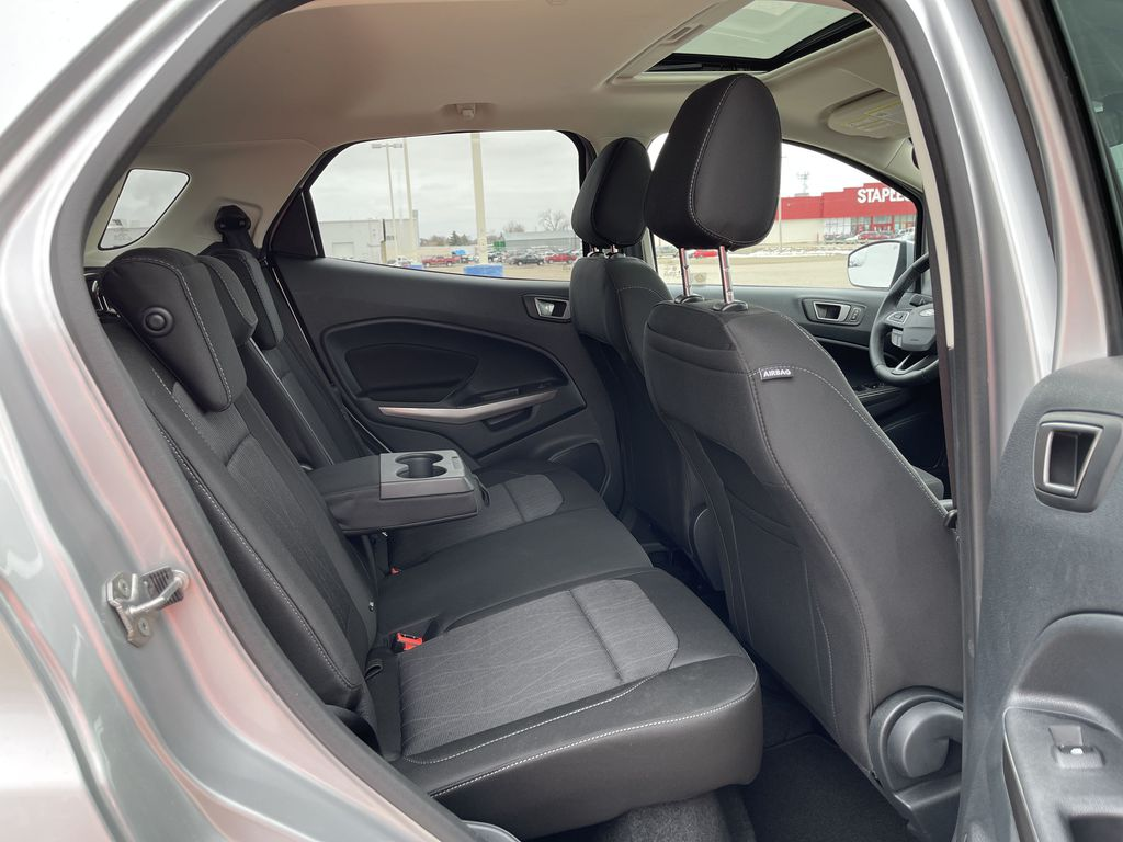 Silver[Moondust Silver Metallic] 2020 Ford EcoSport SE 4WD *Heated Cloth Seats* Backup Cam* Heated Mirrors* Rear Seat Photo in Brandon MB
