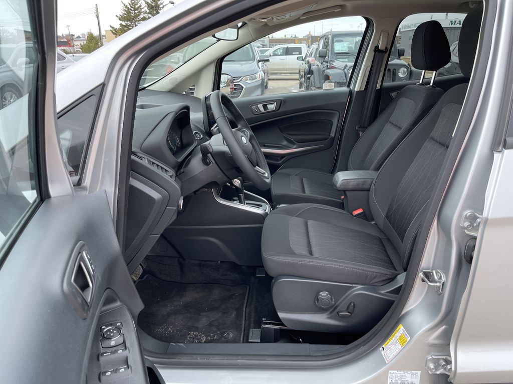 Silver[Moondust Silver Metallic] 2020 Ford EcoSport SE 4WD *Heated Cloth Seats* Backup Cam* Heated Mirrors* Left Front Interior Photo in Brandon MB