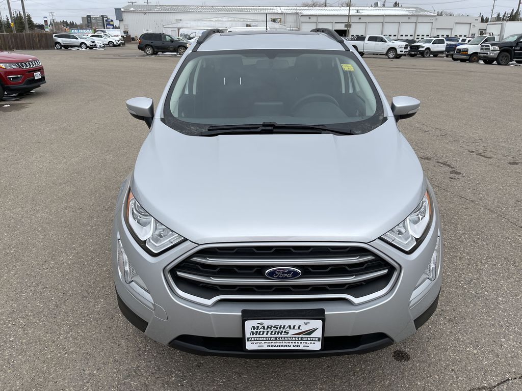 Silver[Moondust Silver Metallic] 2020 Ford EcoSport SE 4WD *Heated Cloth Seats* Backup Cam* Heated Mirrors* Front Vehicle Photo in Brandon MB