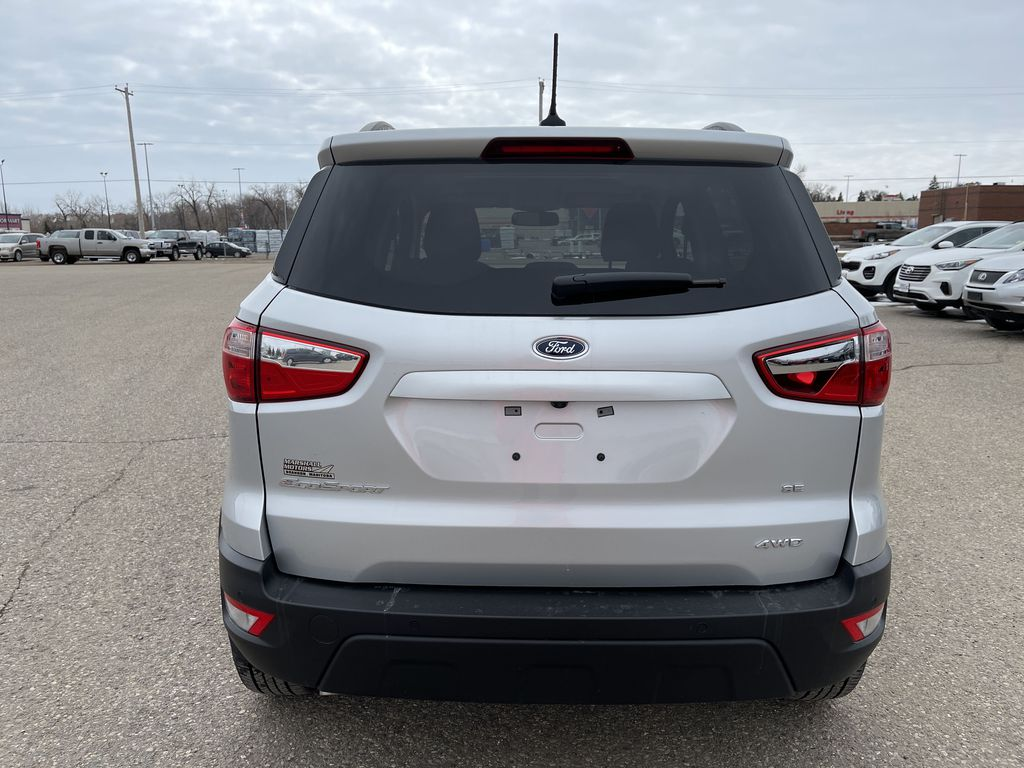 Silver[Moondust Silver Metallic] 2020 Ford EcoSport SE 4WD *Heated Cloth Seats* Backup Cam* Heated Mirrors* Rear of Vehicle Photo in Brandon MB