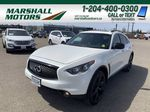 White[Majestic White Pearl] 2017 INFINITI QX70 AWD 4dr *360 Cam* *Sunroof* *Heated Seats* Primary Photo in Brandon MB