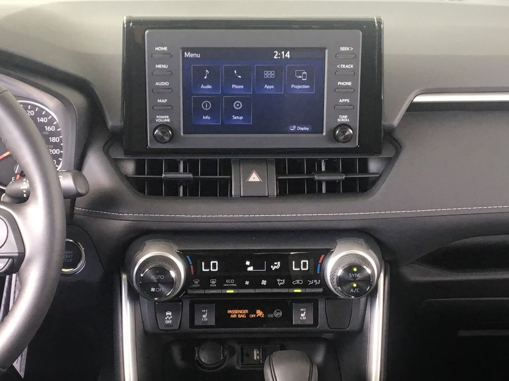 Gray[Magnetic Grey Metallic] 2021 Toyota RAV4 Central Dash Options Photo in Kelowna BC