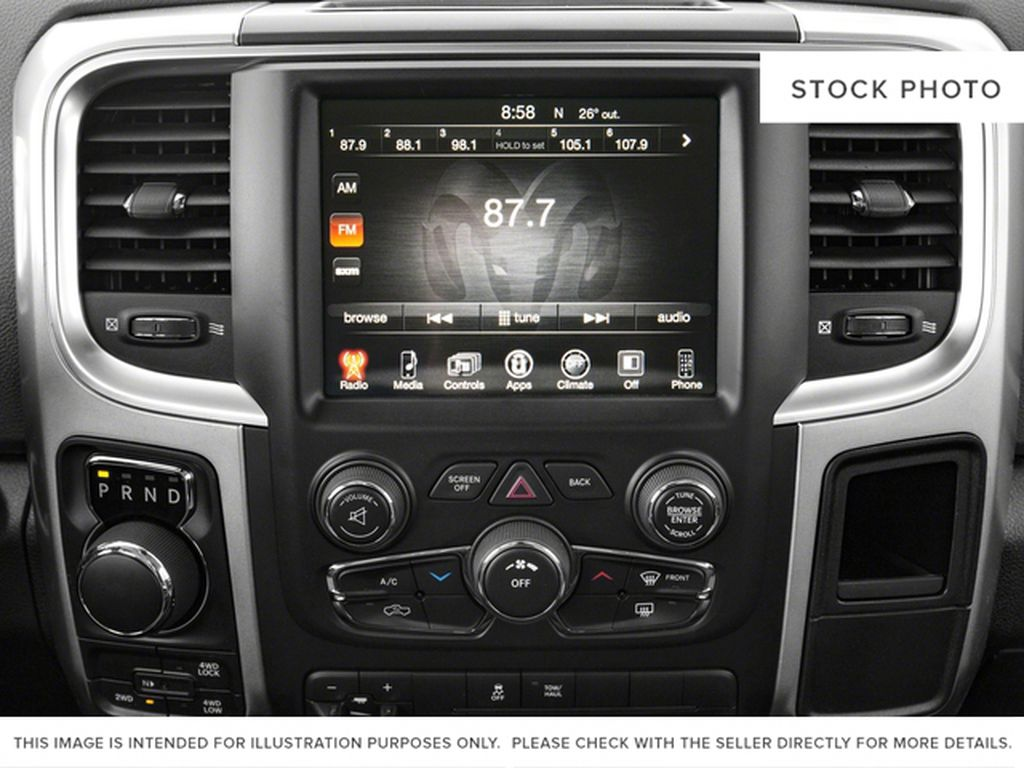 Silver[Bright Silver Metallic] 2017 Ram 1500 Radio Controls Closeup Photo in Fort Macleod AB