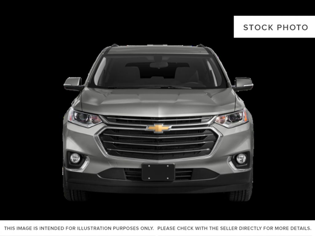 White[Iridescent Pearl Tricoat] 2020 Chevrolet Traverse Front Vehicle Photo in Fort Macleod AB