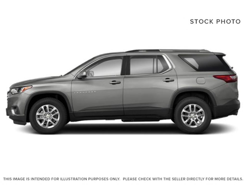 White[Iridescent Pearl Tricoat] 2020 Chevrolet Traverse Left Side Photo in Fort Macleod AB