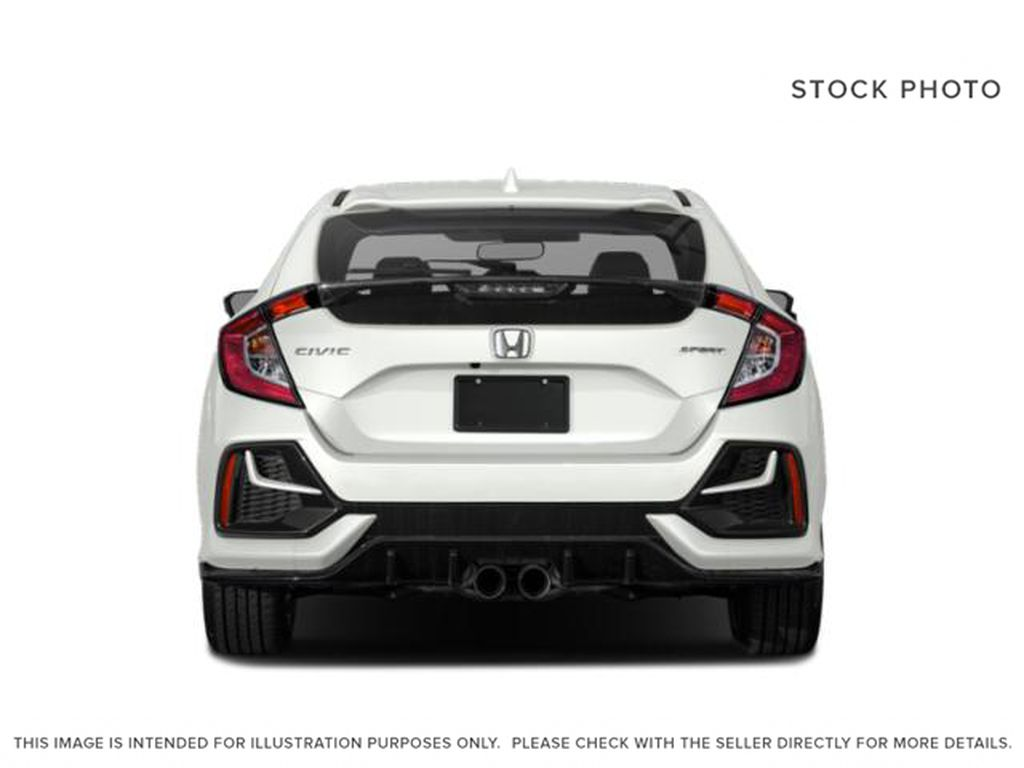 WHITE - NH-883P 2021 Honda Civic Hatchback Rear of Vehicle Photo in Kelowna BC