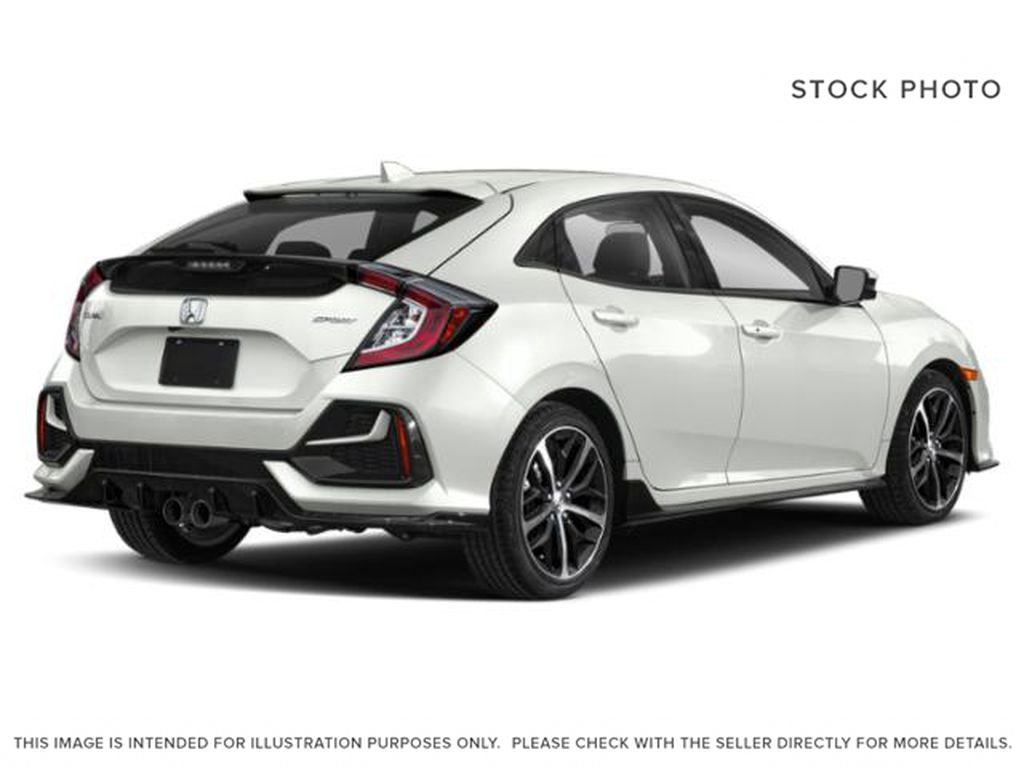 WHITE - NH-883P 2021 Honda Civic Hatchback Right Rear Corner Photo in Kelowna BC