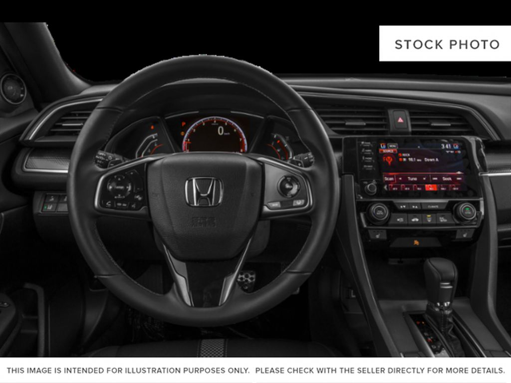 WHITE - NH-883P 2021 Honda Civic Hatchback Steering Wheel/Instruments Photo in Kelowna BC