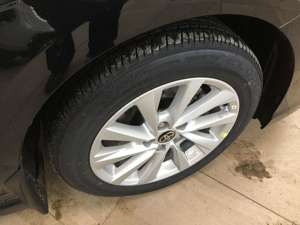 Black[Midnight Black Metallic] 2021 Toyota Camry SE FWD Right Front Rim and Tire Photo in Sherwood Park AB