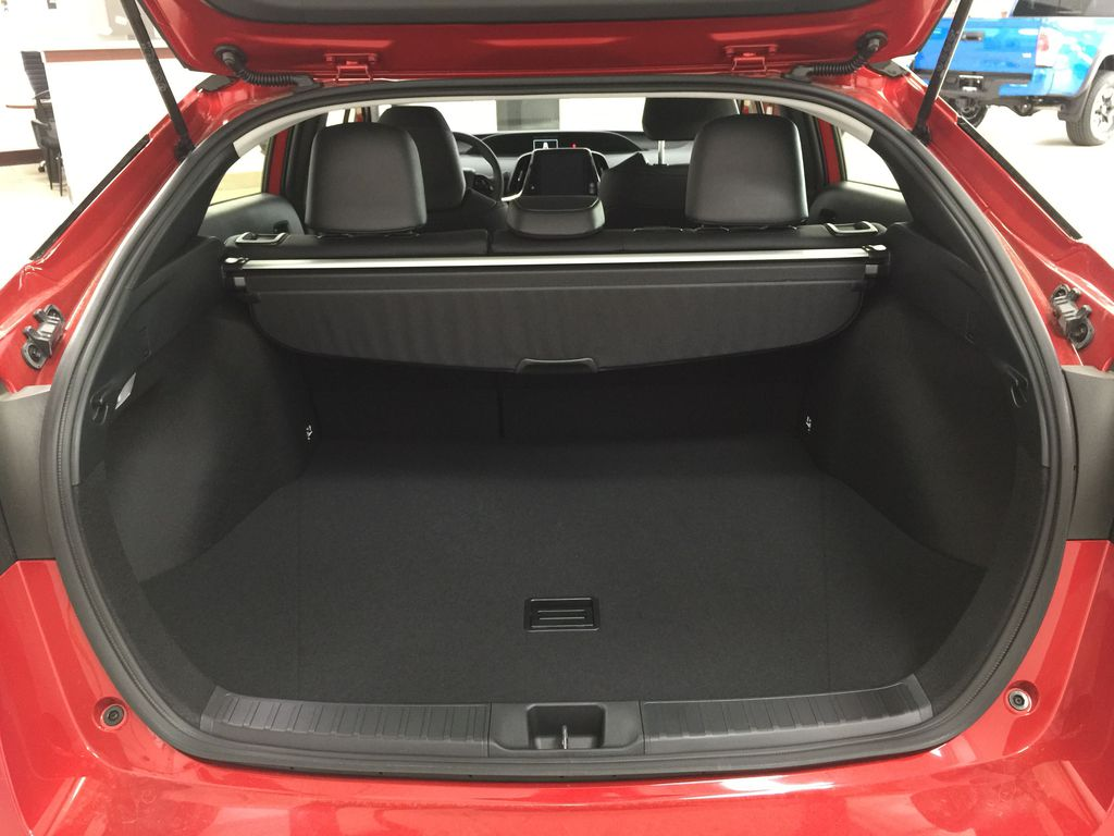 Red[Supersonic Red] 2021 Toyota Prius Technology Advanced AWD-e Cargo Area/Rear Seats Photo in Sherwood Park AB
