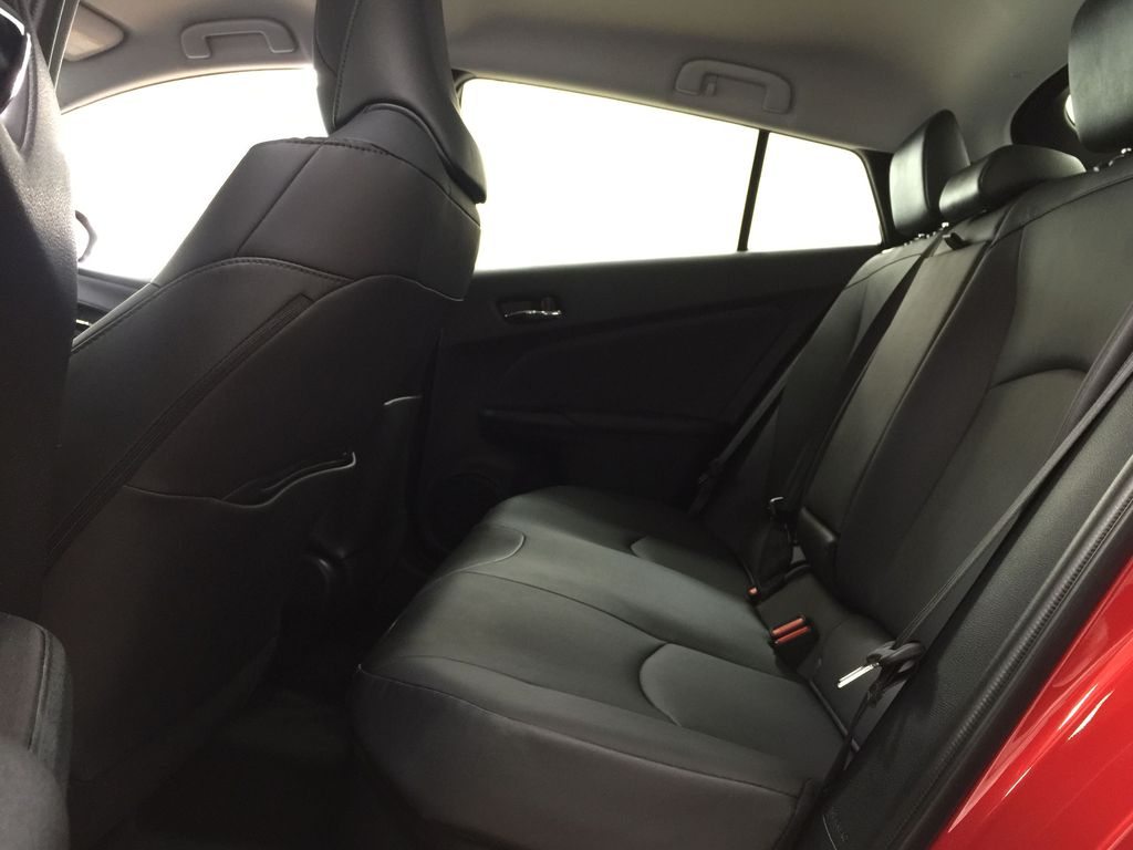 Red[Supersonic Red] 2021 Toyota Prius Technology Advanced AWD-e Rear Seat Photo in Sherwood Park AB
