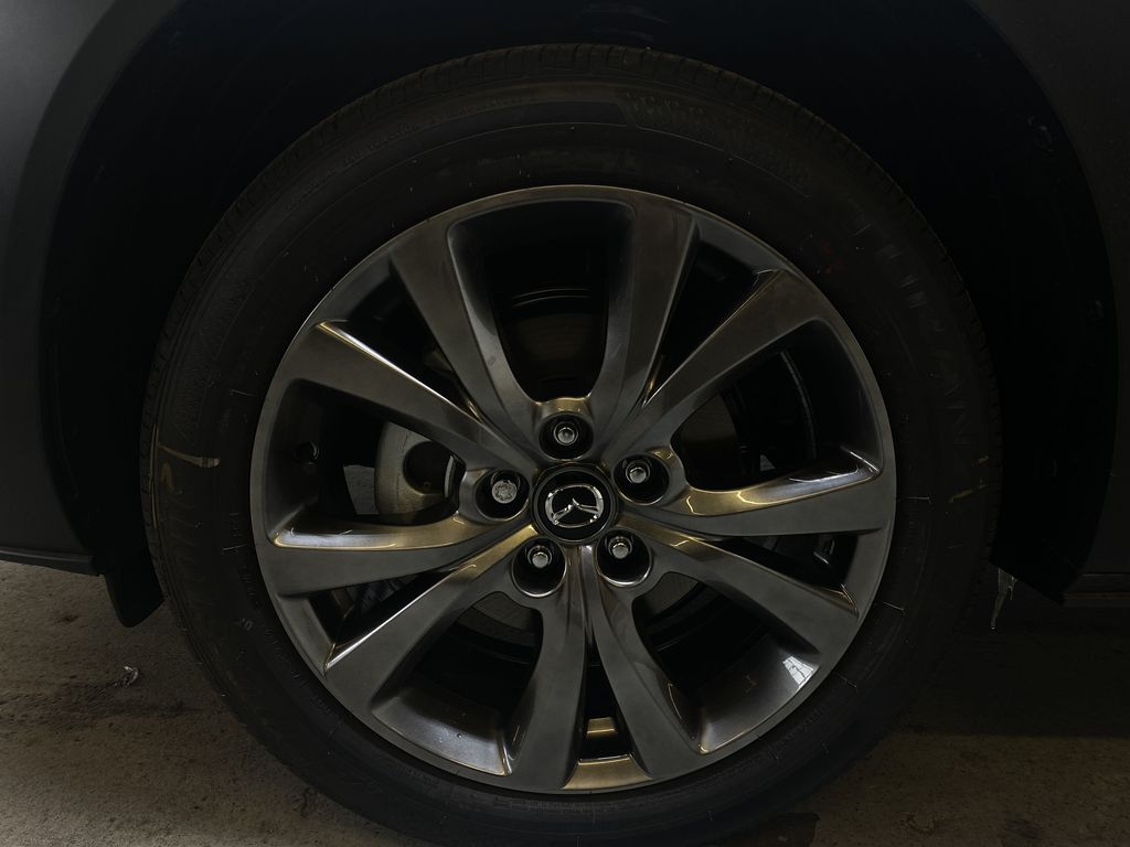 JET BLACK MICA(41W) 2021 Mazda CX-30 GT AWD Left Front Rim and Tire Photo in Edmonton AB