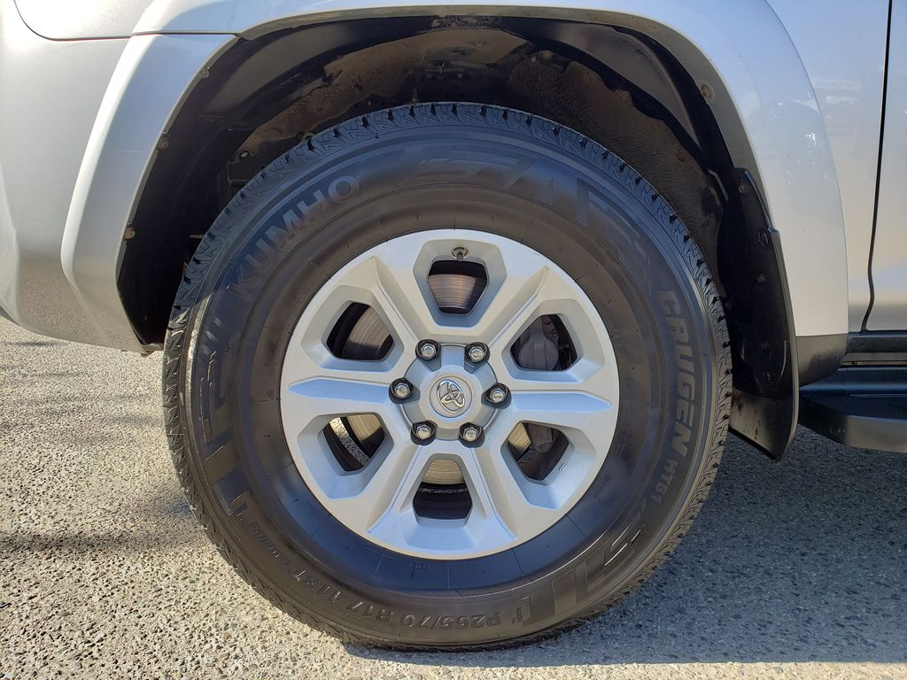 Silver[Classic Silver Metallic] 2016 Toyota 4Runner Left Front Rim and Tire Photo in Kelowna BC