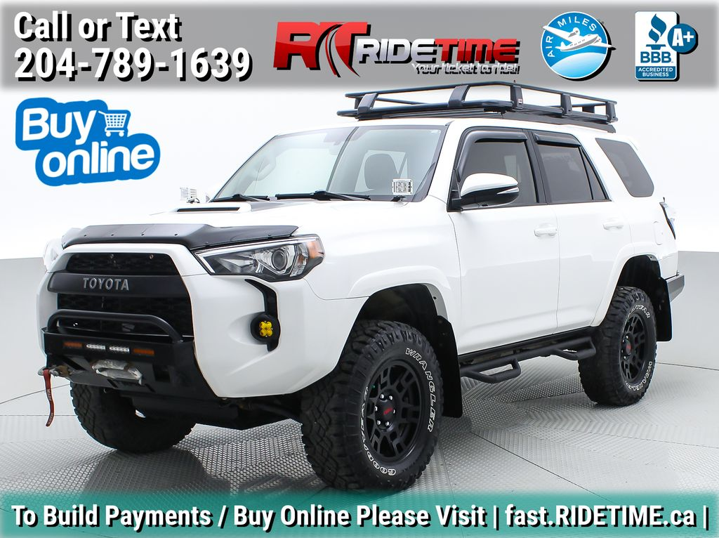 White[Alpine White] Lifted 2016 Toyota 4Runner Trail Premium 4WD - LOADED, One Of A Kind
