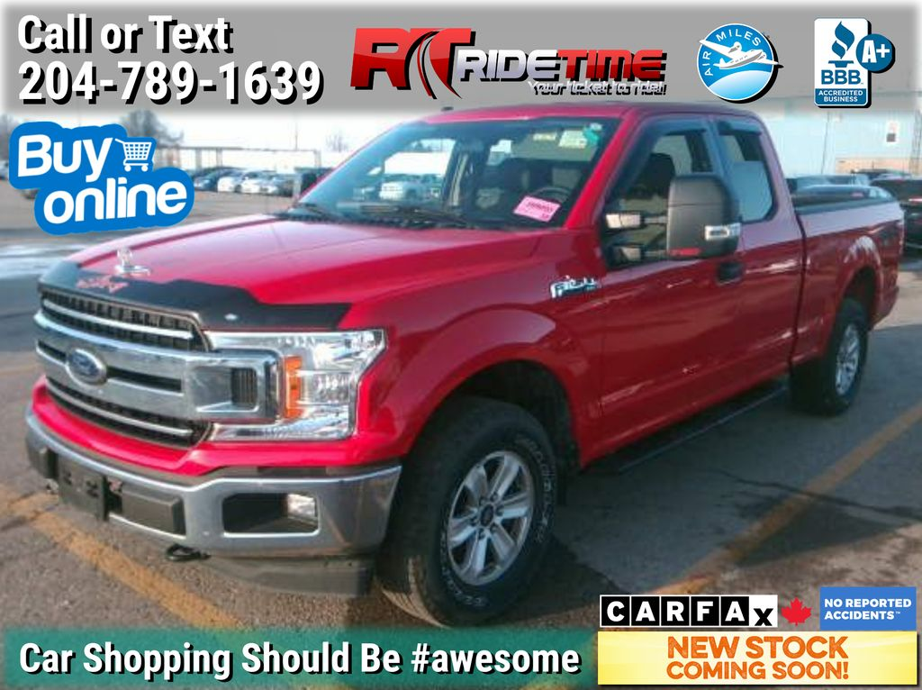 Red[Race Red] 2018 Ford F-150 XLT 4WD - 5.0L V8, SuperCab, 6.5f Box, LOW KMs