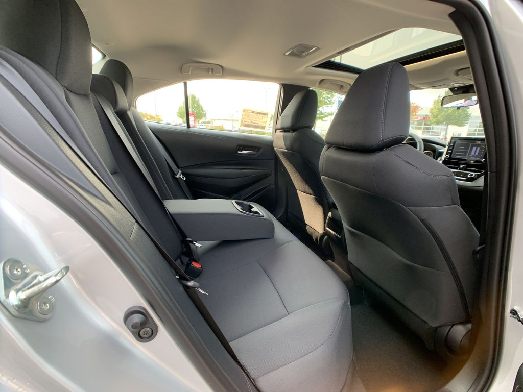 Silver [Classic Silver Metallic] 2021 Toyota Corolla LE Upgrade Package BPRBLC BM Right Side Rear Seat  Photo in Brampton ON