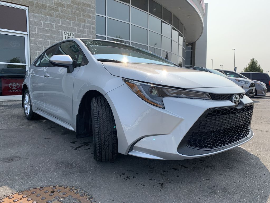 Silver [Classic Silver Metallic] 2021 Toyota Corolla LE Upgrade Package BPRBLC BM Engine Compartment Photo in Brampton ON