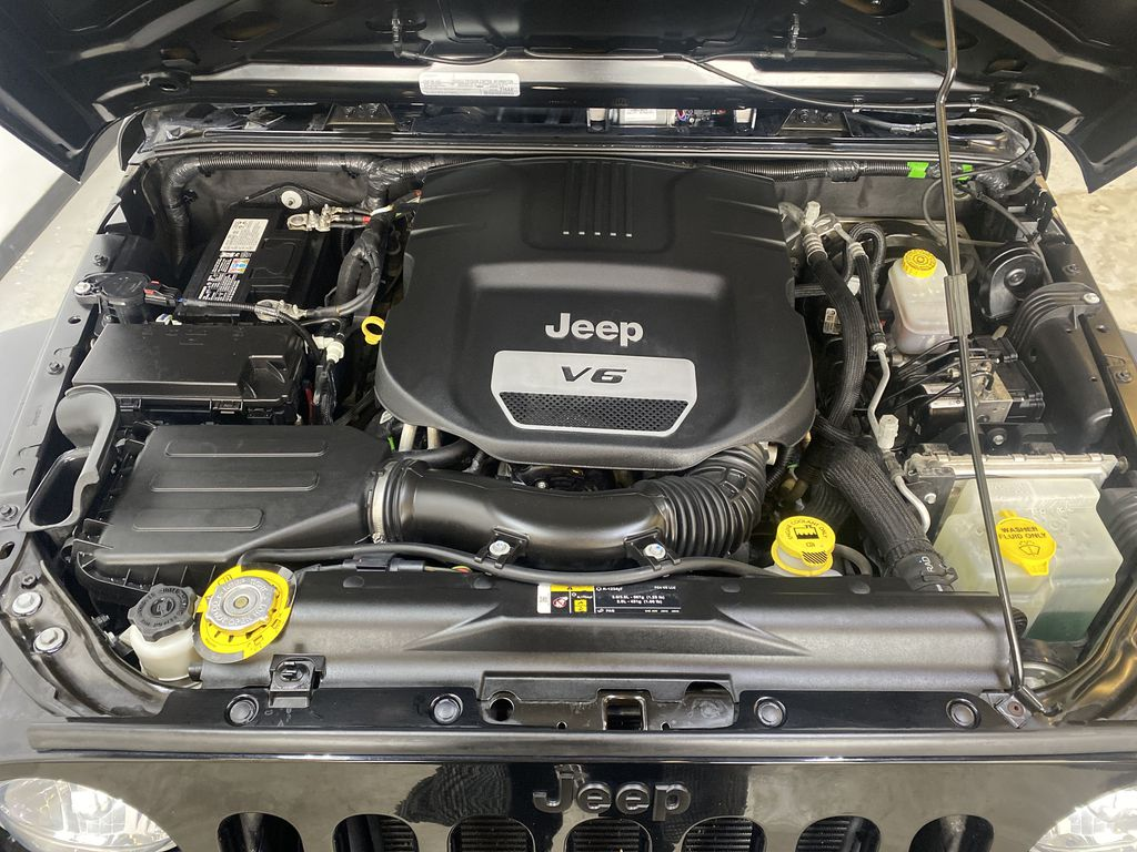 BLACK 2018 Jeep Wrangler JK Unlimited - Bluetooth, XM Radio, Cruise Control Engine Compartment Photo in Edmonton AB