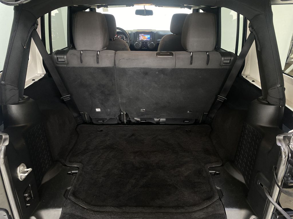 BLACK 2018 Jeep Wrangler JK Unlimited - Bluetooth, XM Radio, Cruise Control Trunk / Cargo Area Photo in Edmonton AB
