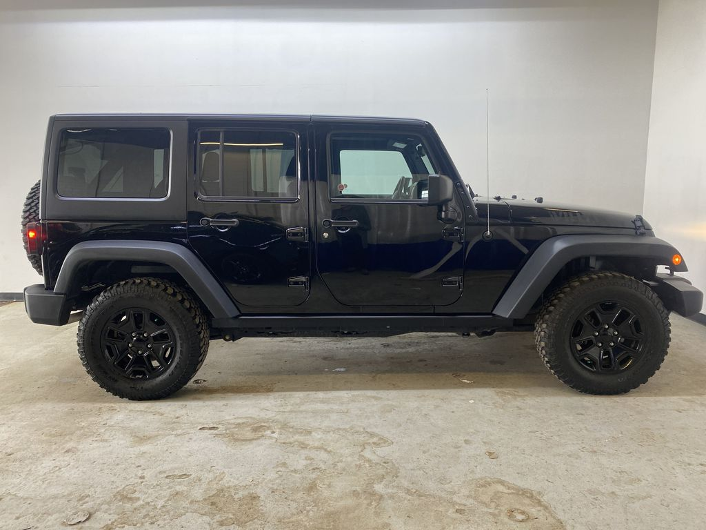 BLACK 2018 Jeep Wrangler JK Unlimited - Bluetooth, XM Radio, Cruise Control Right Side Photo in Edmonton AB