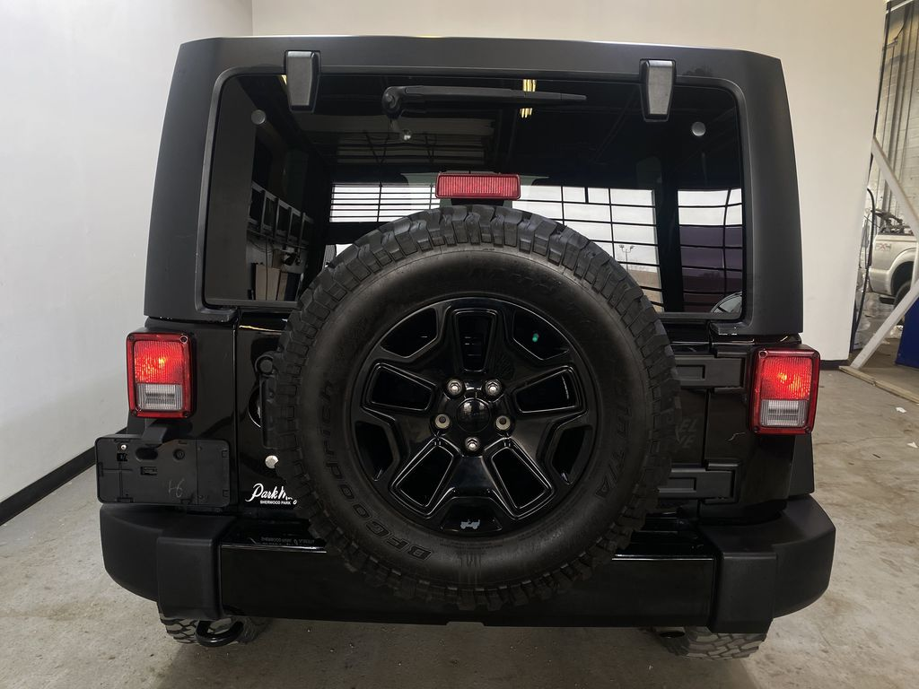 BLACK 2018 Jeep Wrangler JK Unlimited - Bluetooth, XM Radio, Cruise Control Rear of Vehicle Photo in Edmonton AB
