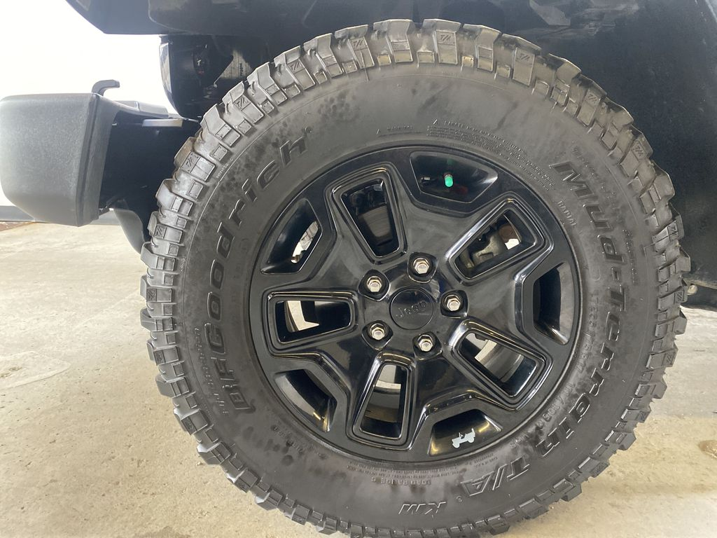 BLACK 2018 Jeep Wrangler JK Unlimited - Bluetooth, XM Radio, Cruise Control Left Front Rim and Tire Photo in Edmonton AB