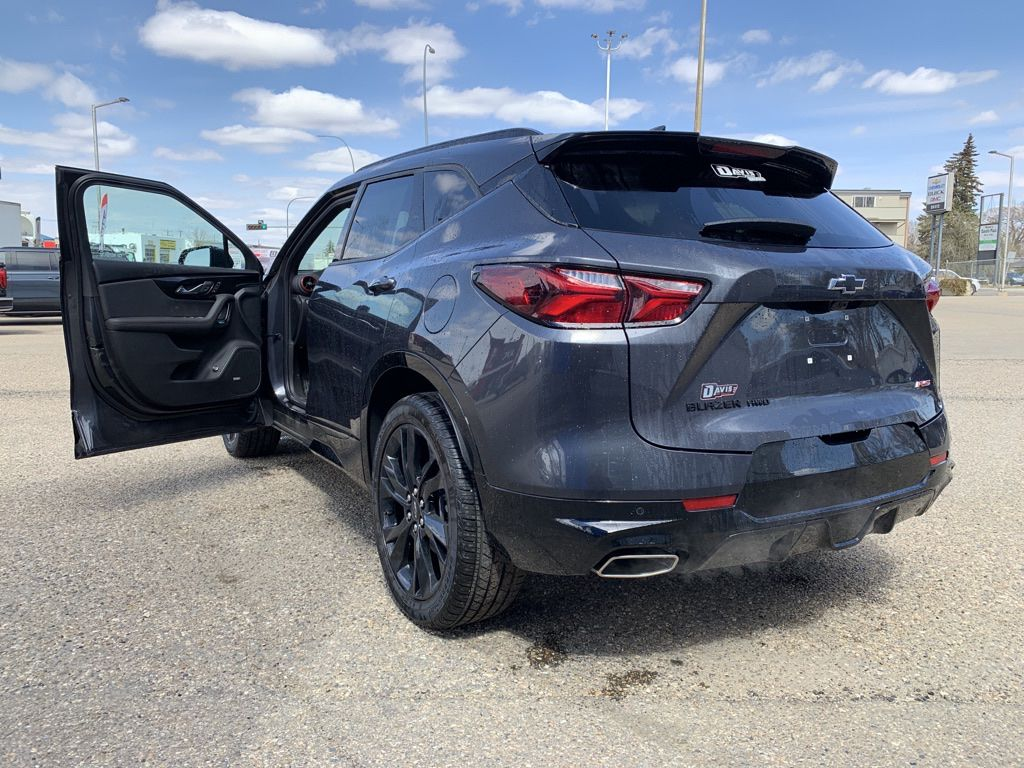 Grey 2021 Chevrolet Blazer Left Front Rim and Tire Photo in Brooks AB