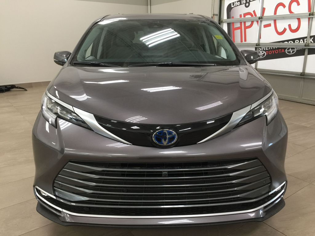 Gray[Pre-Dawn Grey Mica] 2021 Toyota Sienna Limited Hybrid Front Vehicle Photo in Sherwood Park AB
