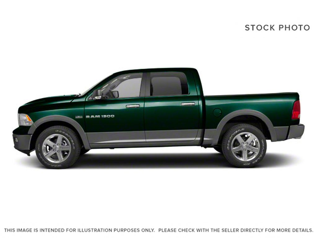 Green[Hunter Green Pearl] 2011 Ram 1500 Left Side Photo in Fort Macleod AB
