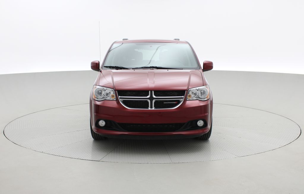 Red[Deep Cherry Red Crystal Pearl] 2015 Dodge Grand Caravan SXT Premium Plus - Leather, Rear DVD Front Vehicle Photo in Winnipeg MB
