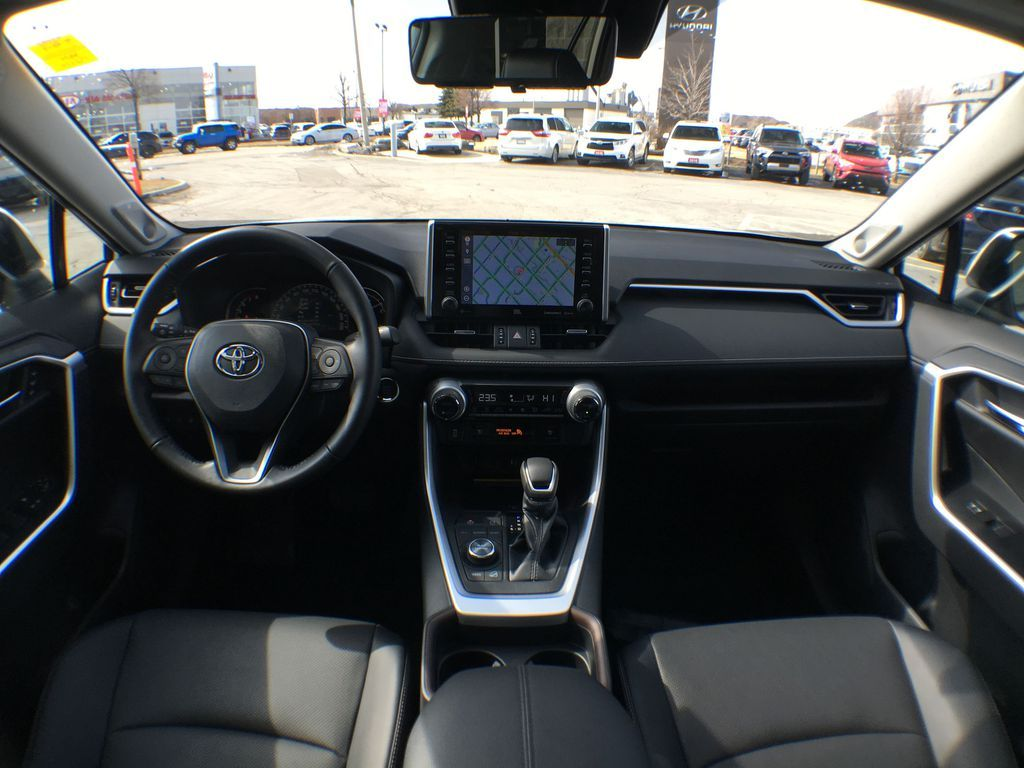 White[Blizzard Pearl] 2021 Toyota RAV4 AWD Limited Package D1RFVT AB Backup Camera Closeup Photo in Brampton ON