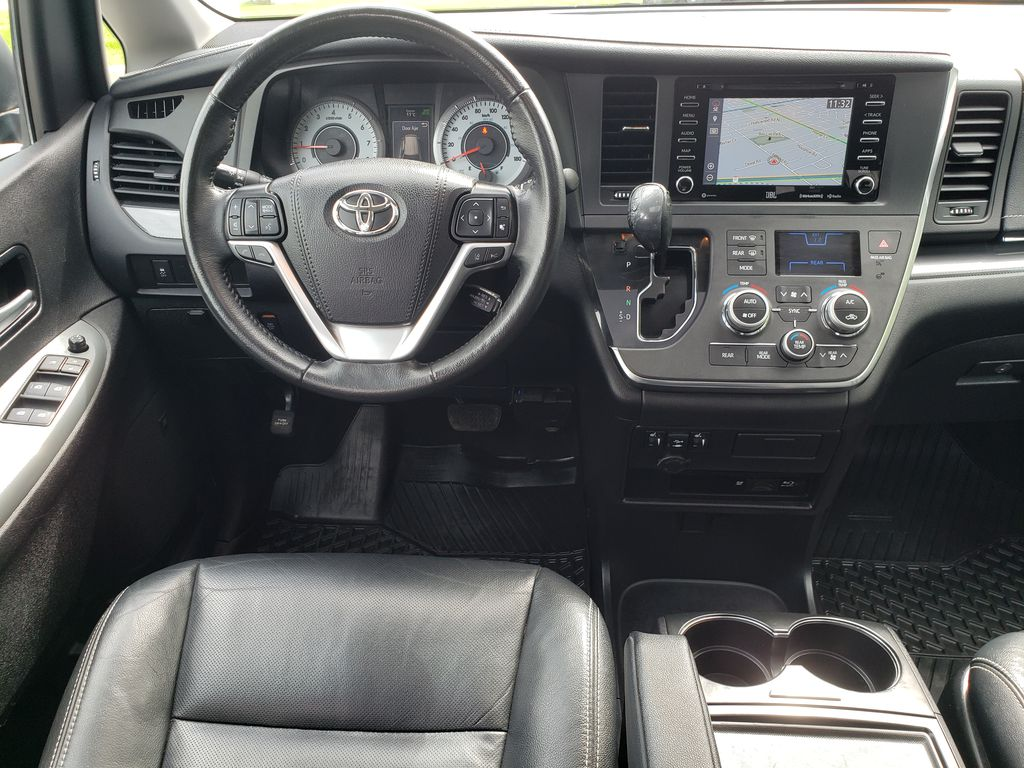Black 2019 Toyota Sienna Steering Wheel and Dash Photo in Kelowna BC