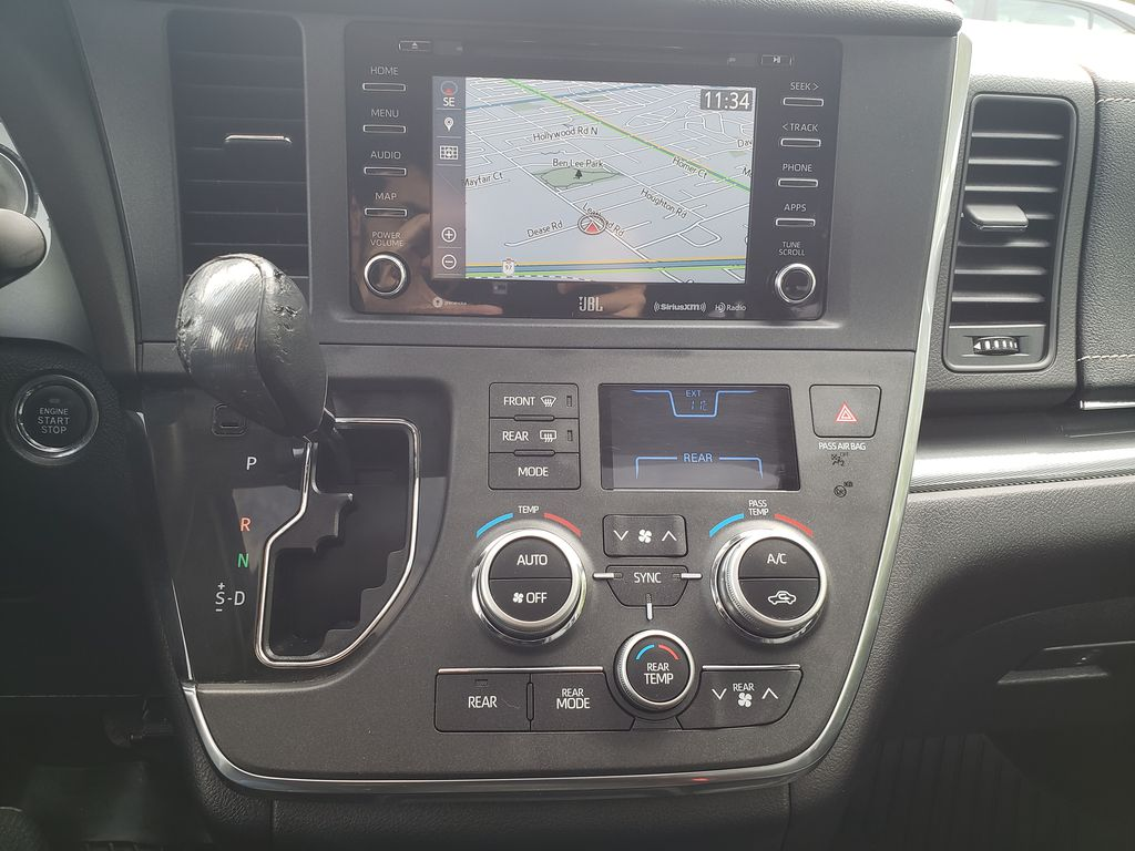 Black 2019 Toyota Sienna Central Dash Options Photo in Kelowna BC