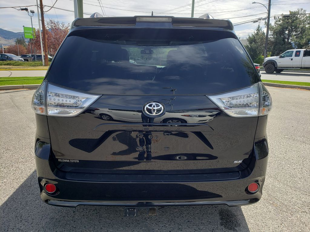 Black 2019 Toyota Sienna Rear of Vehicle Photo in Kelowna BC