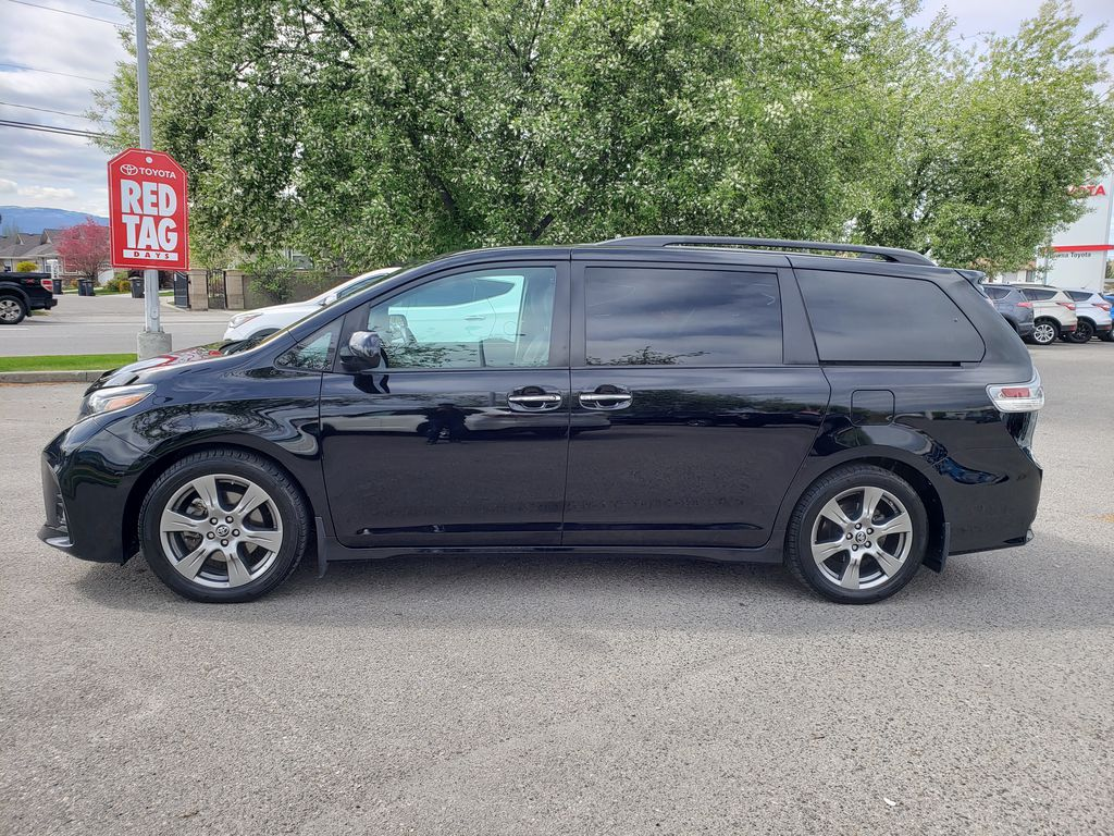 Black 2019 Toyota Sienna Left Side Photo in Kelowna BC