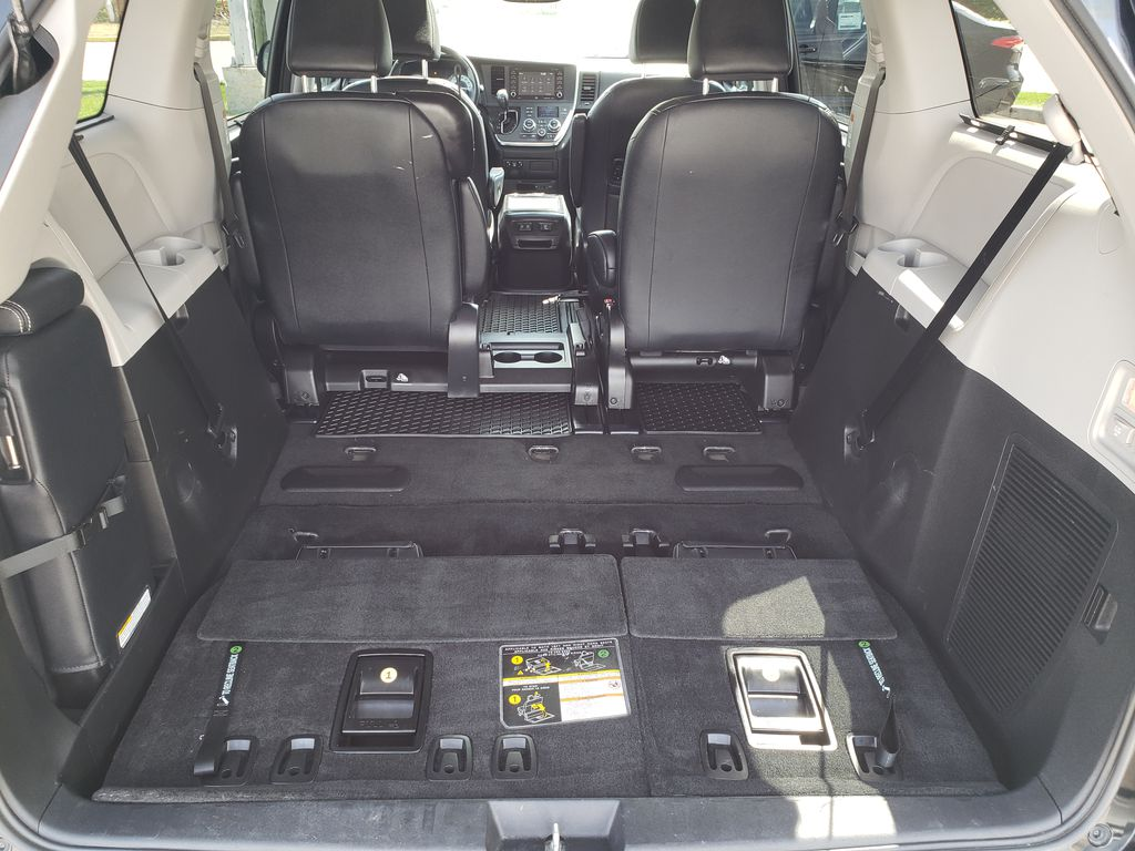Black 2019 Toyota Sienna Trunk / Cargo Area Photo in Kelowna BC