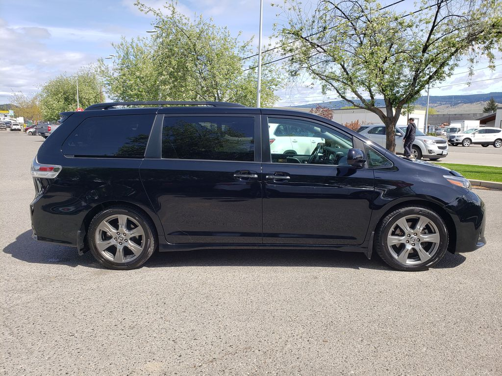 Black 2019 Toyota Sienna Right Side Photo in Kelowna BC
